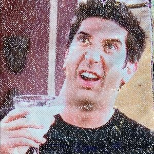 Other - Sequined Ross from friends pillow cover